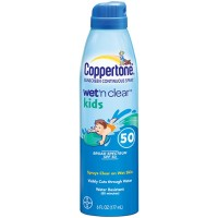 Coppertone Wet 'n Clear Kids Sunscreen Continuous Spray SPF 50, 6 oz [041100003324]