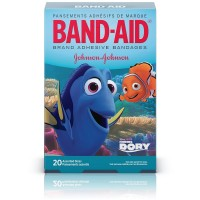 BAND-AID Children's Adhesive Bandages, Disney's Finding Dory, Assorted Sizes 20 ea [381371166626]