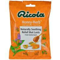 Ricola Cough Suppressant Throat Drops, Honey-Herb 24 ea [036602300019]