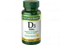 Nature's Bounty Vitamin D3 1000 IU Immune Health, 120 Softgels [074312156052]