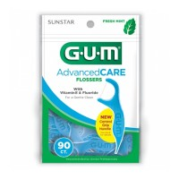 GUM Advanced Care Flossers with Vitamin E Fluoride, Fresh Mint 90 ct [070942304382]
