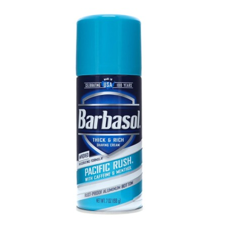 Barbasol Pacific Rush with Caffeine and Menthol Thick & Rich Shaving Cream 7 oz [051009007699]