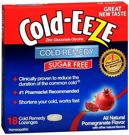 COLD-EEZE Lozenges Natural Pomegranate Sugar Free 18 Each [091108104141]