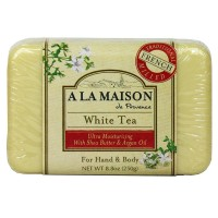 A LA MAISON Solid Bar Soap, White Tea 8.8 oz [182741000270]