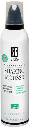 Salon Grafix Shaping Mousse Extra Super Hold 8 oz [034044155075]
