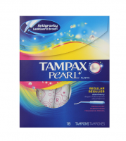 Tampax Pearl Plastic Tampons, Regular Absorbency, Fresh Scent, 18 ea [073010006096]