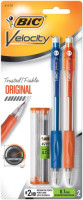 Bic Velocity Medium Mechanical Pencils 0.7mm, Assorted Colors 2 ea [070330411708]