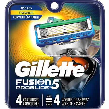 Gillette Fusion ProGlide Power Cartridges 4 ea [047400302532]