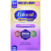 Enfamil NeuroPro Gentlease Infant Formula - Brain Building Nutrition Inspired by breast milk - Powder Refill Box, 30.4 oz [300875121238]