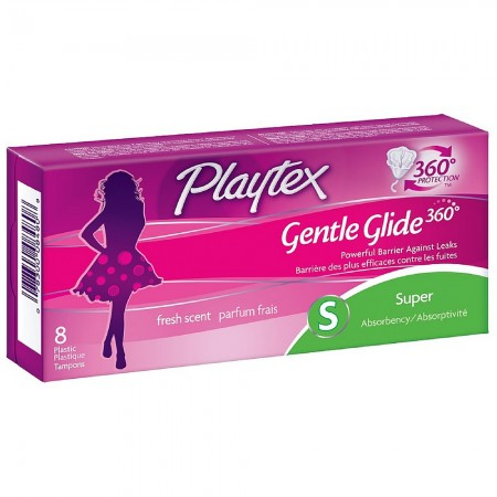 Playtex Gentle Glide 360 Fresh Scent Super Absorbency Tampons 8 ea [078300084808]