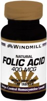 Windmill Folic Acid 400 mcg Tablets Natural 180 Tablets [035046002725]
