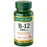 Nature's Bounty  Vitamin B-12 1000 mcg Coated Tablets 200 ea [074312528057]