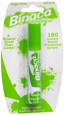 Binaca Aerosol Breath Spray SpearMint 0.20 oz [014657811087]