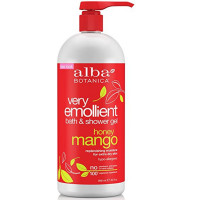 Alba Botanica Very Emollient Bath & Shower Gel, Honey Mango 32 oz [724742005627]