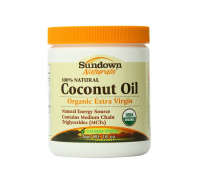 Sundown Naturals Organic Extra Vigin Coconut Oil 16 oz [030768131821]