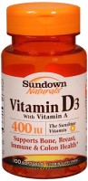 Sundown D 400 IU Softgels Natural 100 Soft Gels [030768006518]