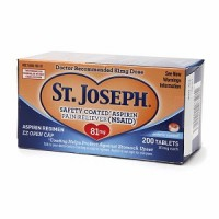 St. Joseph Enteric Coated Aspirin 81mg 200 Tablets [816526010023]