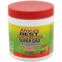 Africa's Best Maximum Strength Super Gro Hair & Scalp Conditioner, 5.25 oz [034285502041]