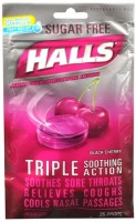 Halls Mentho-Lyptus Drops Sugar Free Black Cherry 25 Each [312546625426]
