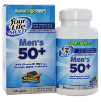Nature's Bounty Your Life Multi Men's 50+ Multivitamin Tablets 90 Tablets [074312276699]