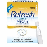 REFRESH Optive Mega-3 Lubricant Eye Drops, Single-Use Sterile Containers 30 ea [300235773305]