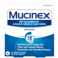 Mucinex 12 Hr Chest Congestion Expectorant Tablets 6 ea [363824008363]