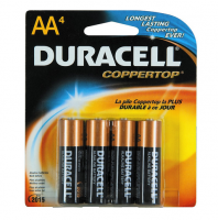 Duracell Coppertop AA Alkaline Batteries 4 Each [041333415017]