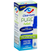Clear Eyes Pure Relief for Dry Eyes 0.30 oz [678112109074]