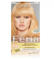 L'Oreal Paris Feria Multi-Faceted Shimmering Colour, Light Golden Blonde [93] (Warmer)  1 ea [071249230213]