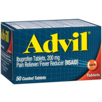 Advil Pain Reliever/Fever Reducer 200 mg Coated Tablets 50 ea [305730150309]