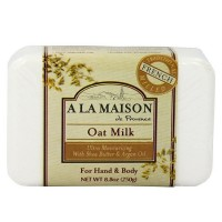 A LA MAISON Solid Bar Soap, Oat Milk 8.8 oz [182741000546]