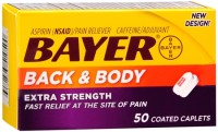 Bayer Back & Body Extra Strength Caplets 50 Caplets [312843510500]