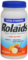 Rolaids Extra Strength Antacid/Calcium Supplement Tablets Fruit 100 Tablets [312547650243]