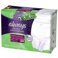 Always Discreet Maximum Absorbency Incontinence Underwear, Large 17 ea [037000887577]