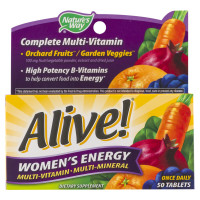 Alive! Tablets Women's Energy 50 Tablets [033674601952]
