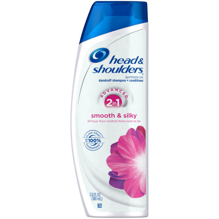 Head & Shoulders 2-in-1 Smooth & Silky Dandruff Shampoo + Conditioner 12.8 oz [037000733447]