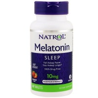 Natrol Sleep Fast Dissolve Melatonin Tablets 10 mg, Strawberry Flavor 60 ea [047469062118]