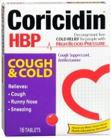 Coricidin HBP Tablets Cough and Cold 16 Tablets [300853601011]