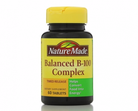 Nature Made Balanced Vitamin B-100 Complex Tablets 60 ea [031604016371]