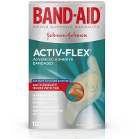BAND-AID Activ-Flex Bandages Regular 10 Each [381370044147]
