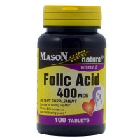 Mason Natural Folic Acid 400 mcg Tablets 100 ea [311845065315]