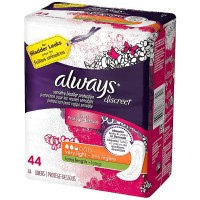 Always Discreet Very Light Absorbency Liners, Long Length 44 ea [037000886341]