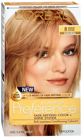 L'Oreal Superior Preference - 8 Medium Blonde (Natural) 1 Each [071249253199]