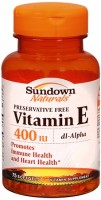 Sundown Naturals Vitamin E 400 IU Softgels 75 Soft Gels [030768504168]