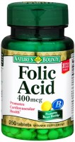 Nature's Bounty Folic Acid 400 mcg Tablets 250 Tablets [074312014031]