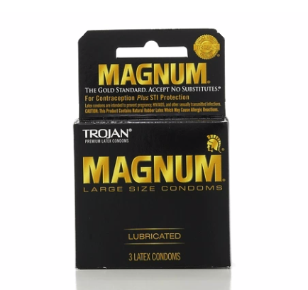 TROJAN MAGNUM Condoms Large Lubricated Latex 3 Each [022600642039]