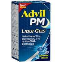 Advil PM Ibuprofen 200 mg Liqui-Gels 80 ea [305730167550]
