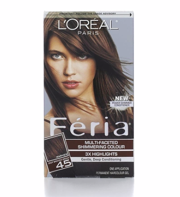 L'Oreal Feria Multi-Faceted Shimmering Colour, 45 Deep Bronzed Brown 1 ea [071249230336]