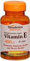 Sundown Vitamin E 400 IU Softgels DL-Alpha 100 Soft Gels [030768032685]