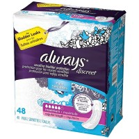 Always Discreet Maximum Absorbency Incontinence Pads, Regular 48 ea [037000887270]